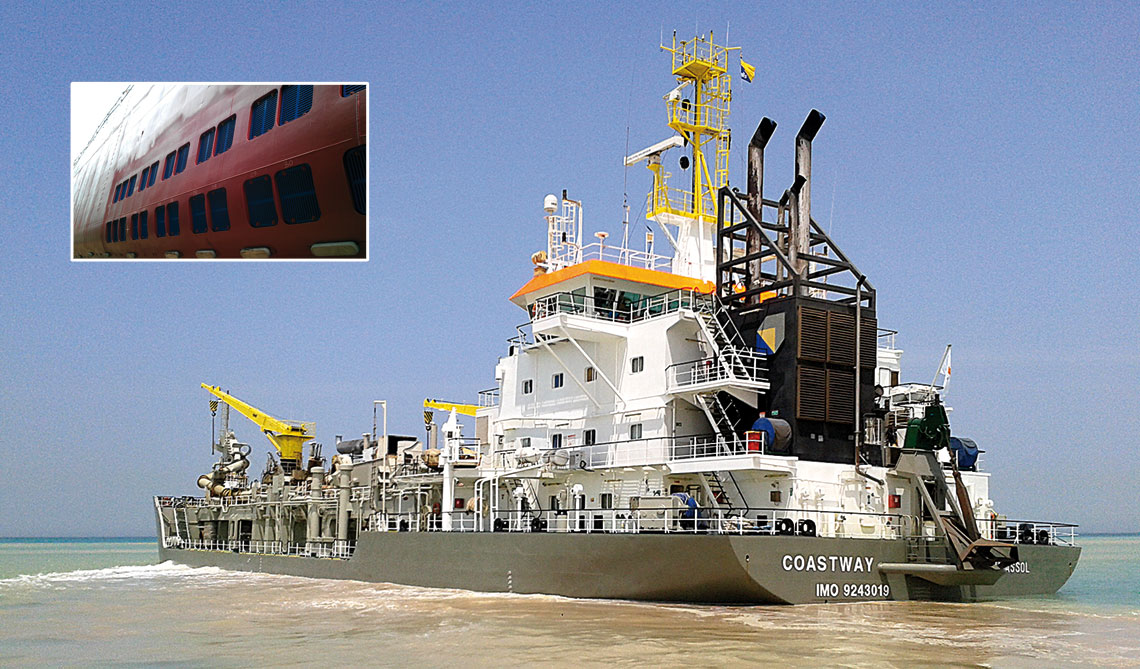 suction dredger with iTAS Box cooler